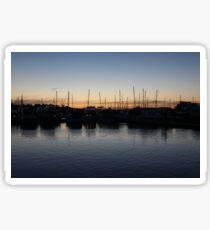 Twilight at the Marina Sticker