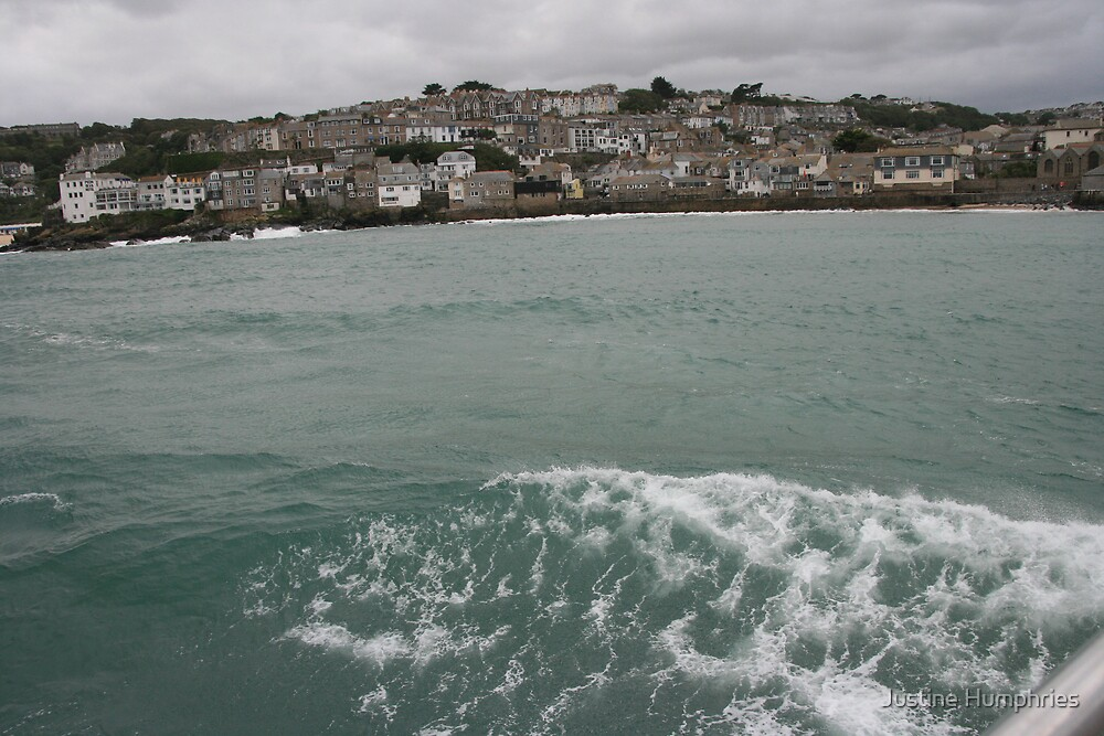 St Ives on a windy day by Justine Humphries