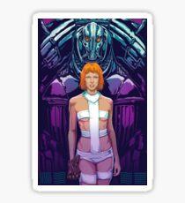 5th Element - Leeloo, Aliens Sticker