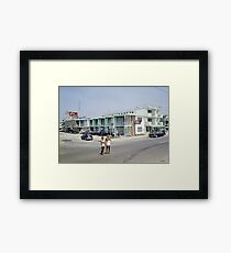 Rio Motel in Wildwood New Jersey from the early 1960's Framed Print