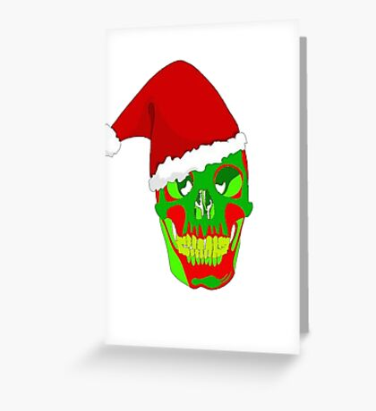 The Death Of Christmas - Santa's Skull Greeting Card