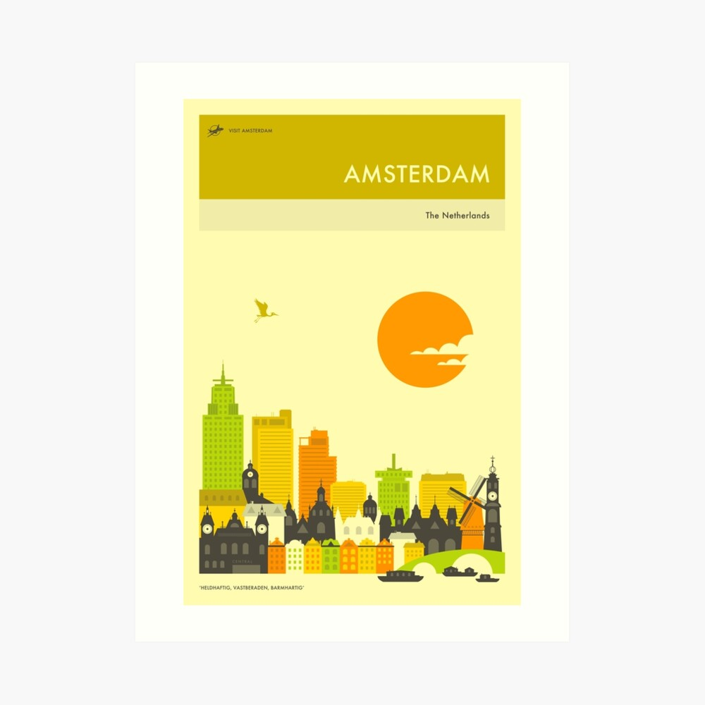 AMSTERDAM TRAVEL POSTER Art Print