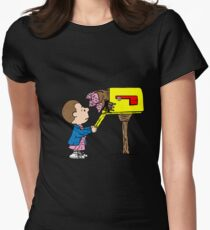 Stranger Things – Peanuts Womens Fitted T-Shirt