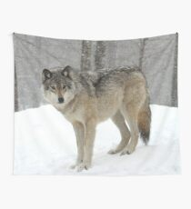 A lone wolf Wall Tapestry