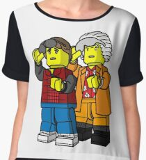 Back To The Future Lego Women's Chiffon Top