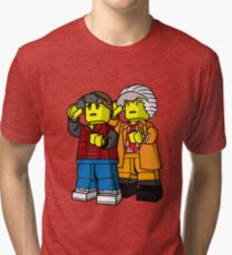 Back To The Future Lego Tri-blend T-Shirt