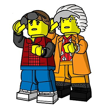 Back To The Future Lego by UnionTee