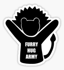 Furry Hug Army African Lion/Maned African Lioness Sticker