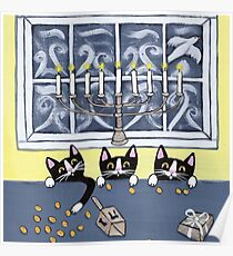 Hanukkah Kitties Poster
