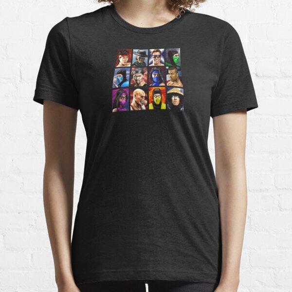 Mortal Kombat 2 - Character Select - Clean Essential T-Shirt