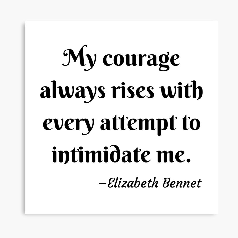 Pride and Prejudice Elizabeth Bennet Jane Austen Quote Canvas Print