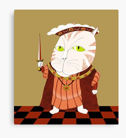 King Cat Henry the Eighth Canvas Print