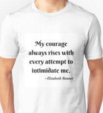 Pride and Prejudice Elizabeth Bennet Jane Austen Quote Unisex T-Shirt