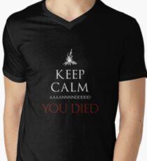 Keep Those Souls Calm  Men's V-Neck T-Shirt