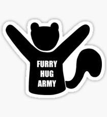 Furry Hug Army Squirrel Sticker