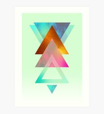 Triangles, 2 Art Print