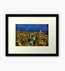 Looking Northeast from Sears Tower. Framed Print