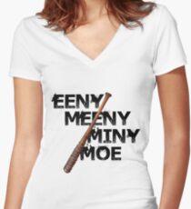 Eeny Meeny Miny Moe - The Walking Dead Women's Fitted V-Neck T-Shirt