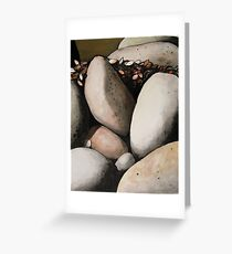 Rock Forms with Seaweed. Greeting Card
