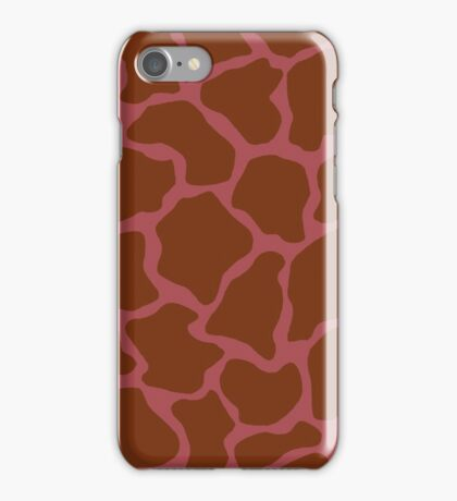 English Red or Rose Vale in Giraffe Pattern  iPhone Case/Skin