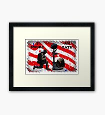 Respect our vets! Framed Print