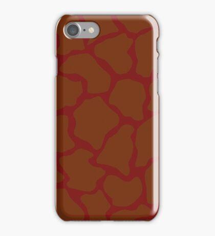 Falu Red in Giraffe Pattern  iPhone Case/Skin