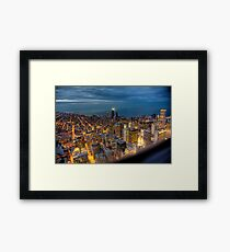 Looking Northeast from Sears Tower, part deux. Framed Print