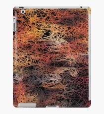 psychedelic camouflage sketching abstract pattern in brown orange and black iPad Case/Skin
