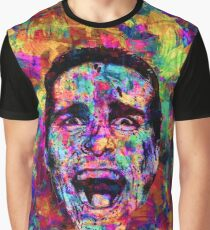 Colorful American Psycho Patrick Bateman Acrylic Painting Graphic T-Shirt