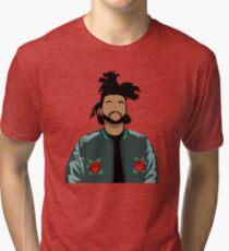 Weeknd Roses Tri-blend T-Shirt