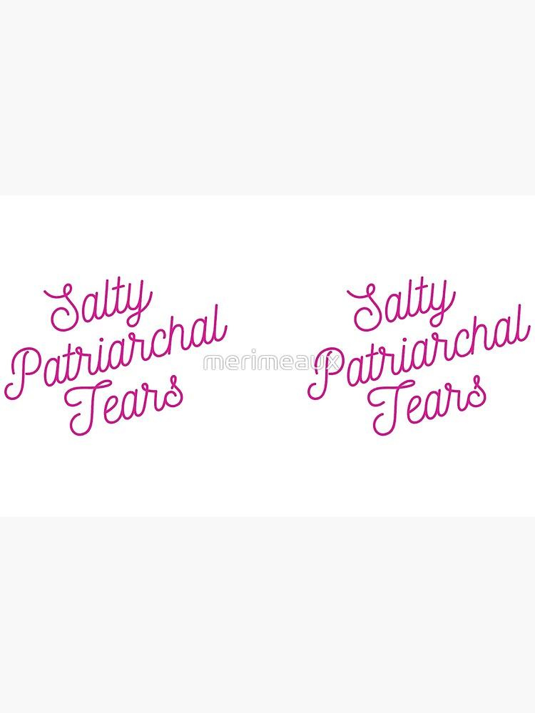 Mugocracy : Salty Patriarchal Tears (Pink) by merimeaux