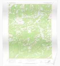 USGS TOPO Map Colorado CO Groundhog Mountain 450938 1964 24000 Poster