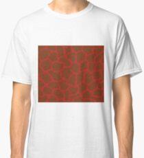 Firebrick in Giraffe Pattern  Classic T-Shirt