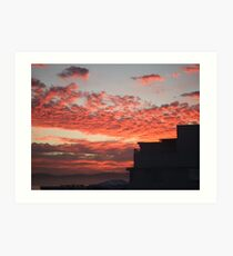 sunrise at Mouille Point Art Print