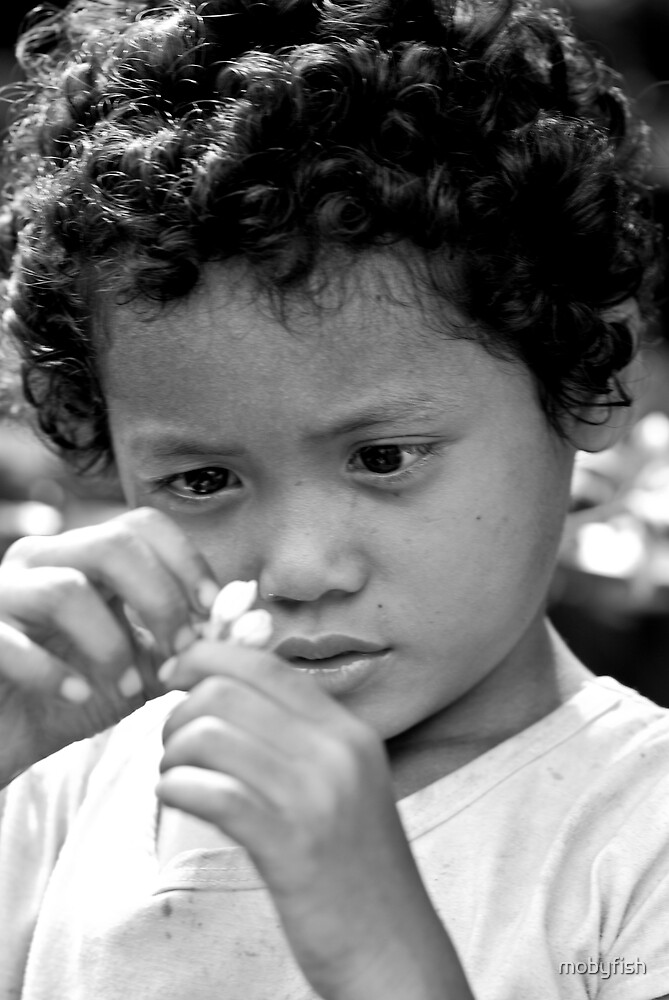 cambodian street kid by mobyfish