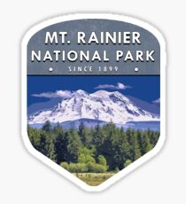 Mt Rainier National Park 2 Sticker