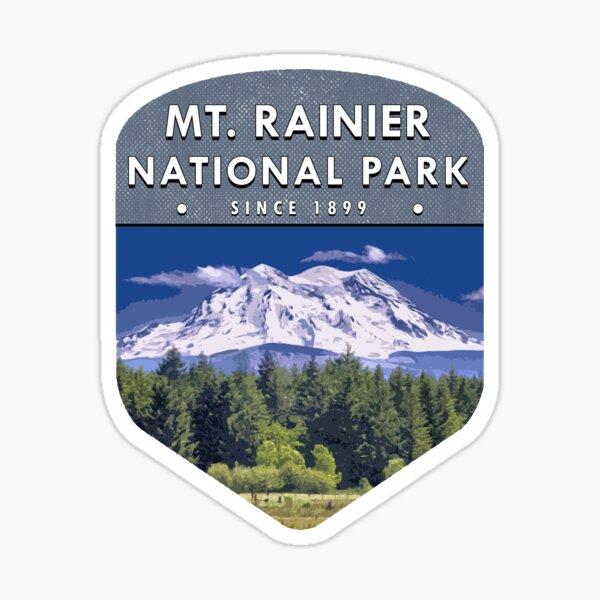 Mt Rainier National Park 2 Sticker
