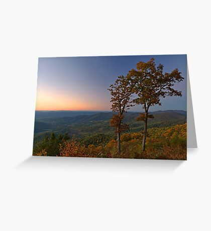 Shenandoah Twilight Overlook Greeting Card