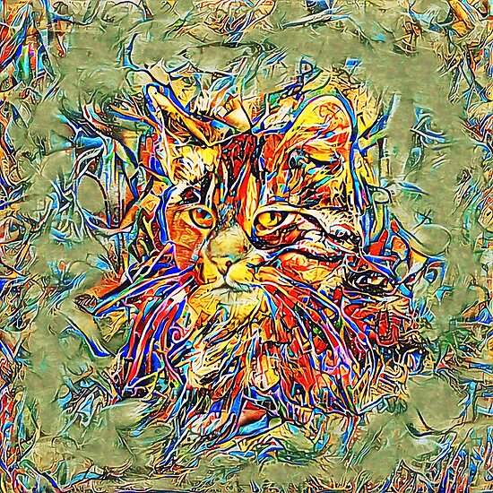 Ninja Cat. Deep Neural Networks #Art
