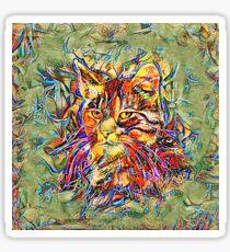 Ninja Cat. Deep Neural Networks #Art Sticker