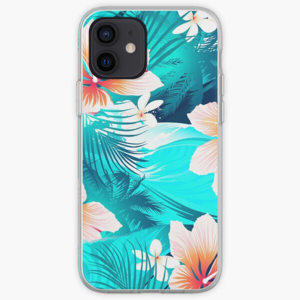 Hibiscus flowers at the beach iPhone Soft Case