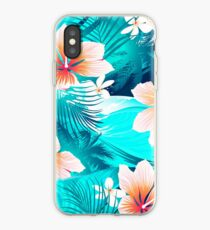 Hibiscus flowers at the beach iPhone Case