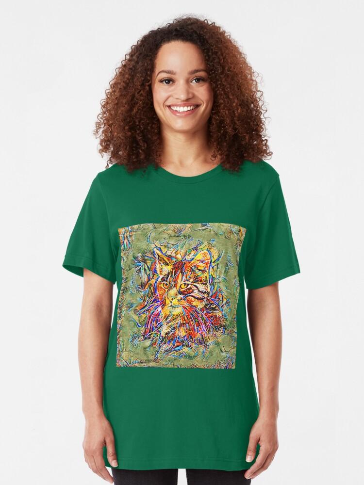 Alternate view of Ninja Cat. Deep Neural Networks #Art Slim Fit T-Shirt