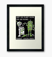 Robot Earth Framed Print