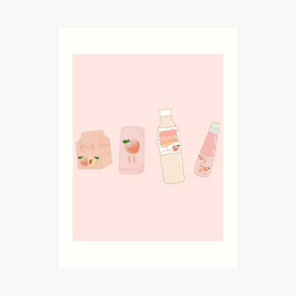 Peach Drinks V.2 Art Print