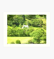 Cottage in Lake District Art Print