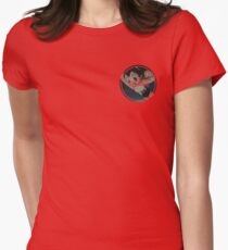 Astro boy Hoodoo badge Womens Fitted T-Shirt