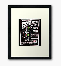 Robot Found On Earth Framed Print