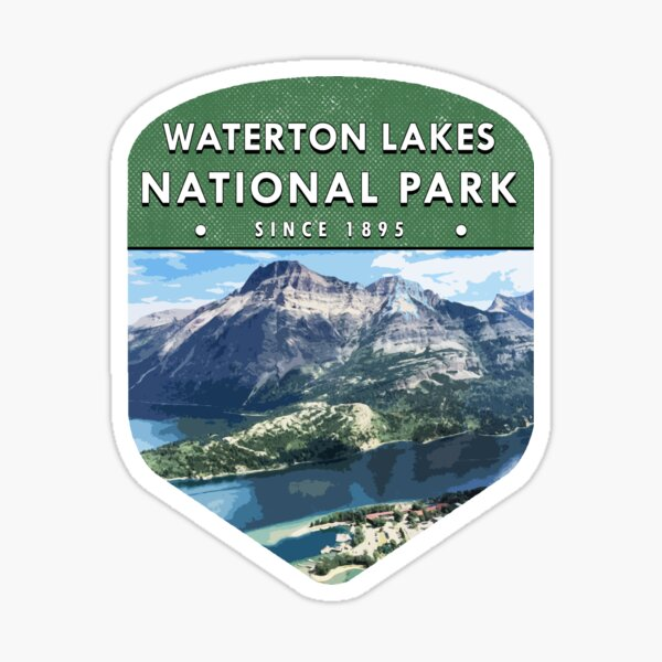 Glacier National Park Sticker Crown of the Continent Decal Hiking Forest