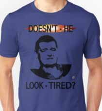 MOFFAT: Doesn't he look tired? (Black on light colors) T-Shirt